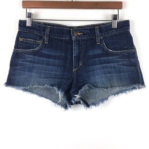 Joes Jeans Denim Shorts 26 Blue Dark Wash Cut Off